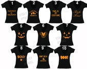 Free Shipping Womens Halloween Minnie T-shirt Costume Jack O Lantern Skull Day of Dead Skeleton Pumpkin Funny Cute V-Neck T-shirt Black