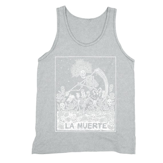 Mens Muerte Mexican Day Of The Dead Girl Vest Tank Top NEW S-XXL