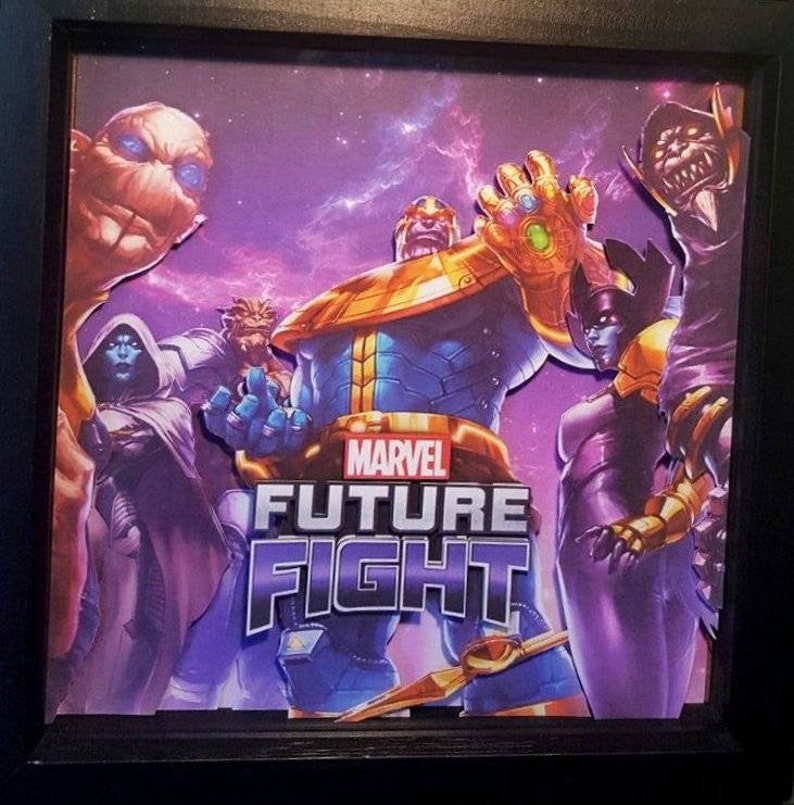 Marvel Future Fight - 3D Shadow Box Framed Diorama - Retro Gaming Geeky  Gift - Gamer Wall Art - Perfect Birthday or Anniversary Present