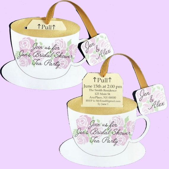Teacup Invitation Etsy