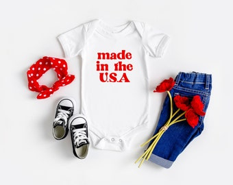 USA Made in America 3-24 Months USA Baby Clothes /& Onesie