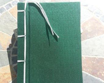 Green Stab Bound Notebook
