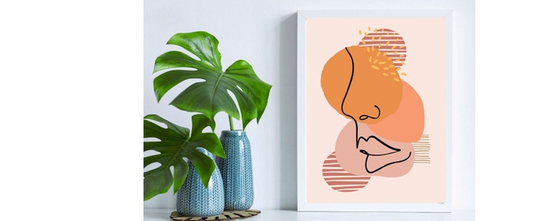 outline of woman Bedroom decor Abstract Wall Decor Wall Art Ladies face Single Line Drawing feminist Modern Art Print Home Print