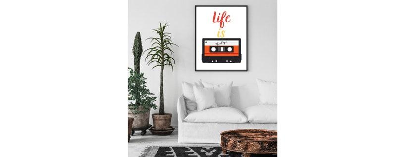 Retro printable teen room decor bedroom decor Retro art printable Retro art print 80/'s wall art living room decor