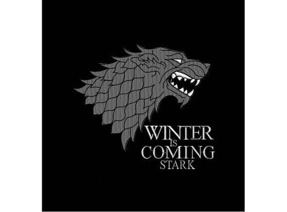 Machine Embroidery Design Winter Is Coming House Stark Direwolf Game Of Thrones 4 Sizes Instant Download