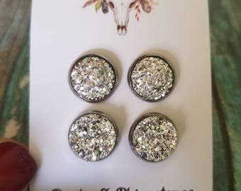 Silver sparkle bling chunky