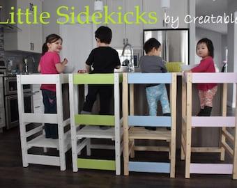 Little Sidekick a Kitchen Helper - Kitchen Learning Stool - Learning Tower - Safety stool - Vinyl lettering
