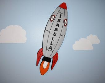 Rocketship Name Sign