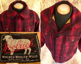5a7a2eeae865b Vintage WOOLRiCH 503 MACKiNAW CRUiSER WOOL HUNTiNG JAcKET Coat GAME POCKET  50's 46