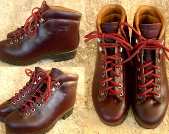 Vintage SKYWALK VASQUE Made In ITALY LEATHER HiKING MOUNTAiNEERING TRAiL  Boots Sz 6 1980u0027s