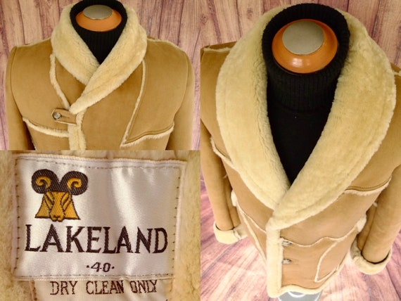 693fe28d49 LAKELAND TOMAHAWK Marlboro Man SHEEPSKiN SHEARLiNG Coat JACKET