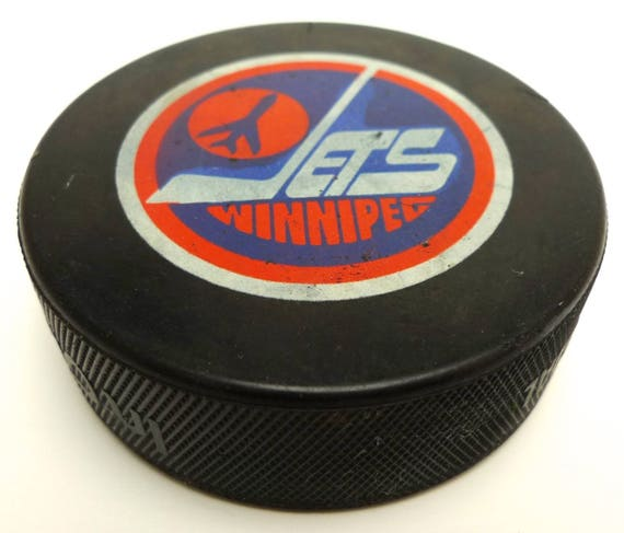 Vintage Winnipeg Jets Nhl Official Hockey Puck Made In Canada Etsy