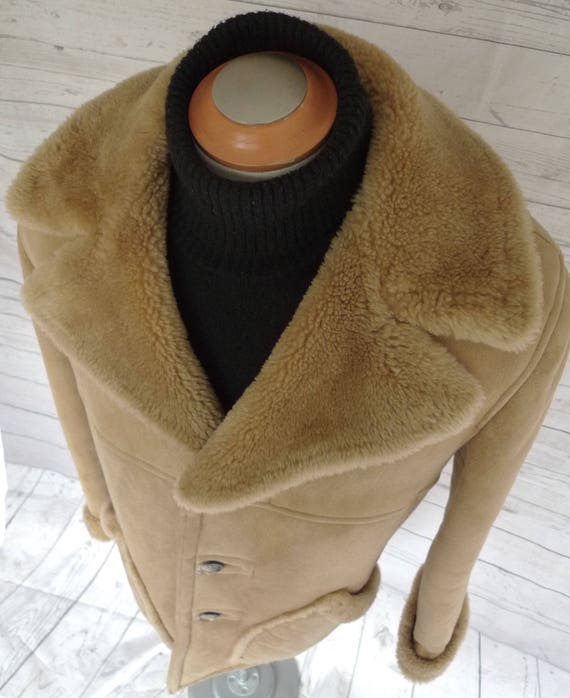 80debe3aba Cowboy Cool MARLBORO Man SHEEPSKIN Shearling COAT Jacket