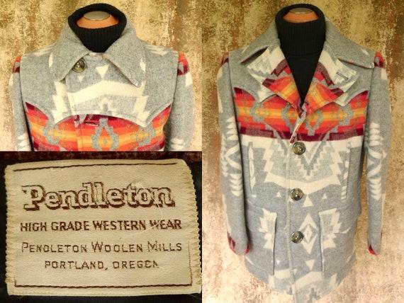PENDLETON Rare! ViNTAGE 1970's Western Wear WOOL B