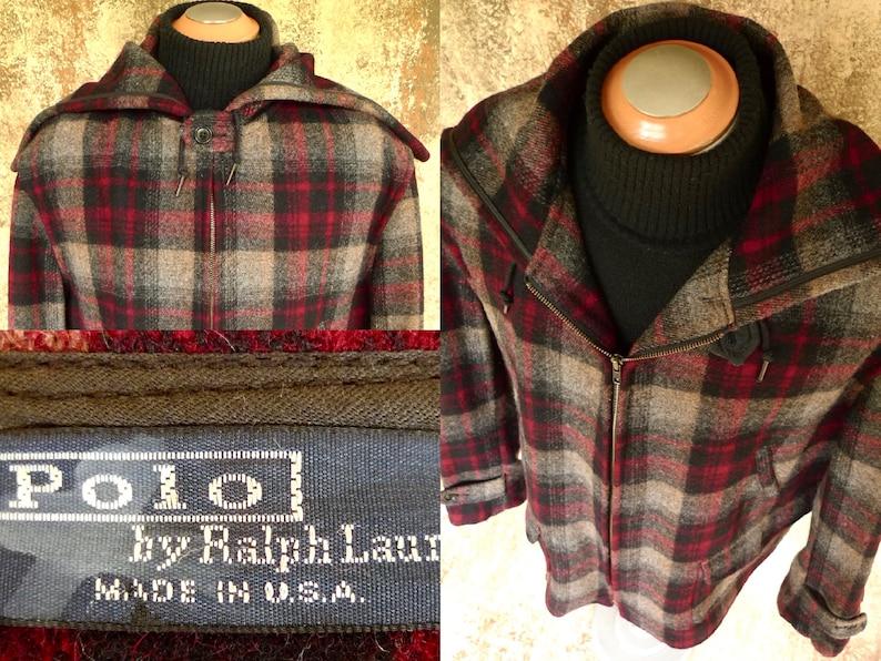 Plaid Ralph Mackinaw Hunting Polo Lauren Vintage Barnstormer Cruiser Wool Jacket UzVpGqSM