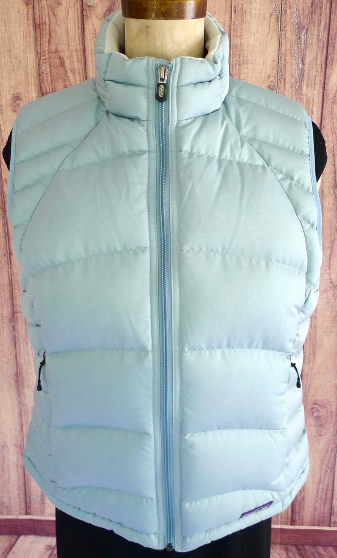 2fcf6de9871 PATAGONIA Women's Goose Down FiLLED Blue Zip Up Puffer   Etsy