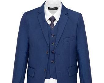 SUIT LAB - Matte Navy Blue Boy Suits - Formal, Wedding, Church, Communion, Tuxedo Suit
