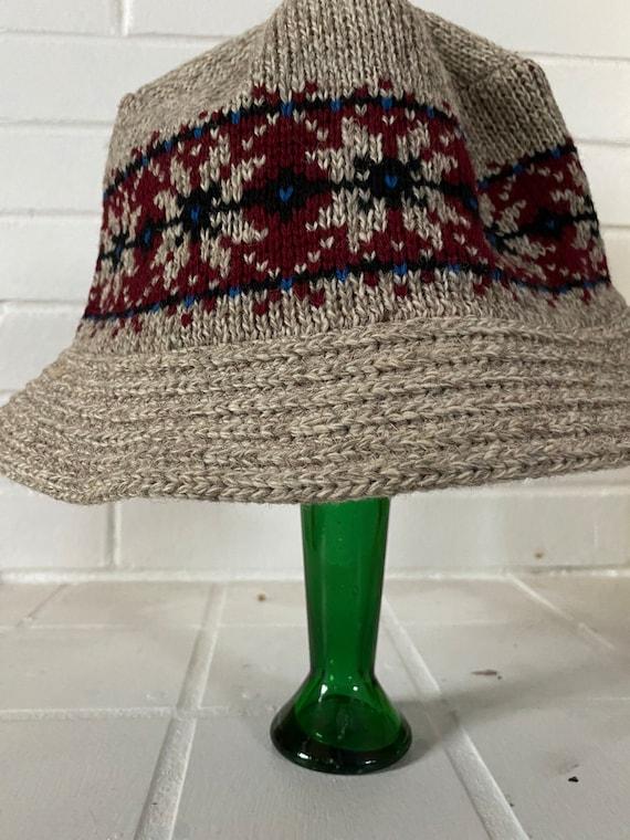 Vintage Wool Bucket Hat, Knit Bucket Hat, Winter … - image 7