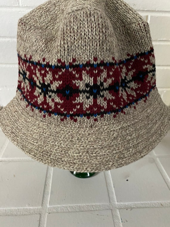 Vintage Wool Bucket Hat, Knit Bucket Hat, Winter … - image 6