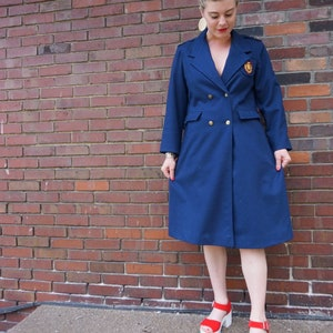 Vintage Madeleine Dilloway Royal Blue Swearter w Heart Buttons