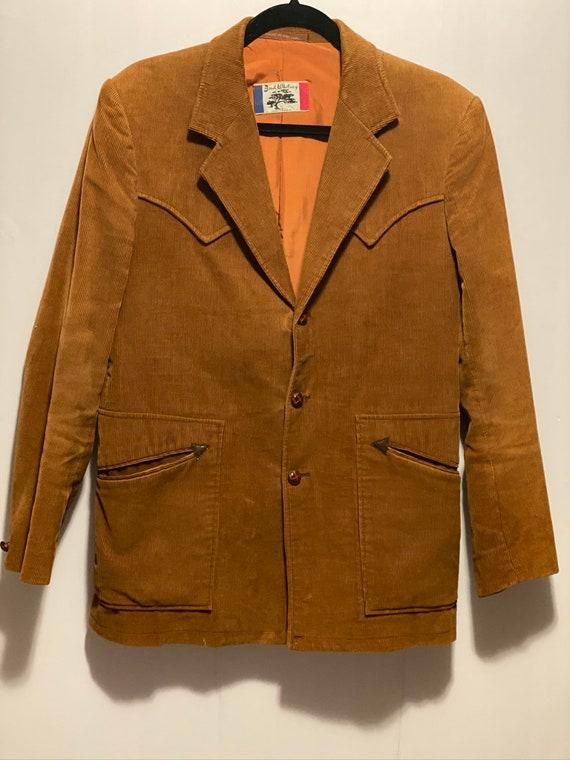 Vintage 70/'s Lee Men/'s Brown Sport Coat Cowboy Western Jacket Mod Disco Blazer 40 L