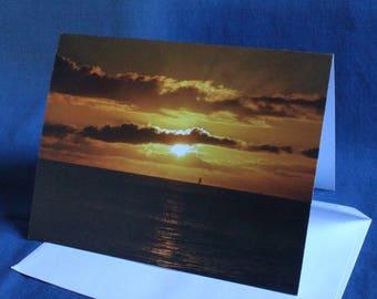 Waikiki Sunset (Note Card)