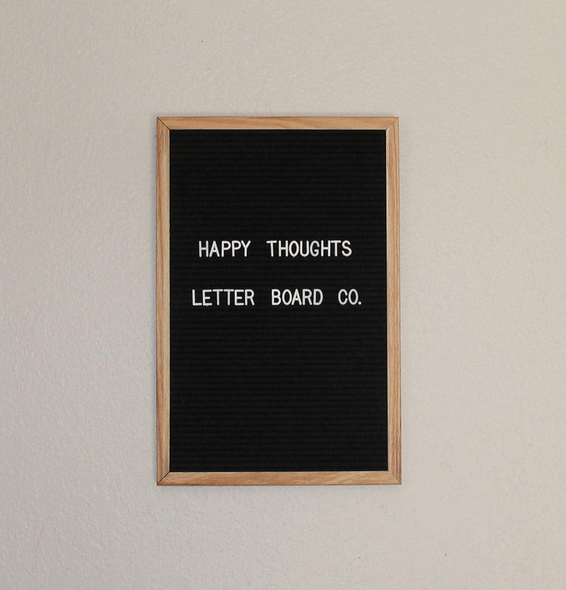 black felt letter board 12x18 white plastic etsy. Black Bedroom Furniture Sets. Home Design Ideas