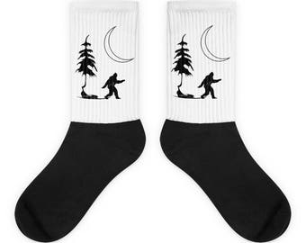 Bigfoot - Sasquatch - Socks - Gift For Him - Gifts For Men - Bigfoot Gift - Yeti Socks - Socks - Nature Socks - Hiking - Wilderness