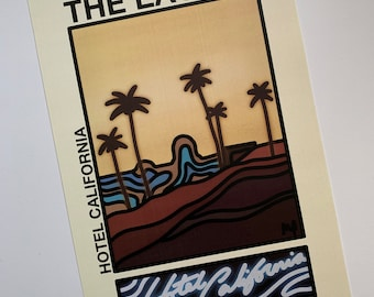 Welcome To The Hotel California Wooden Sign The Eagles 1976 Retro Rock Vintage