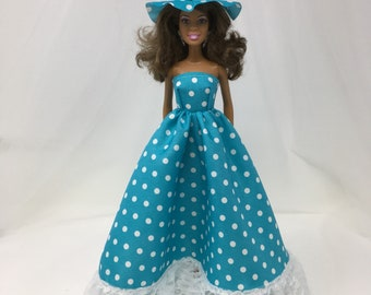 """Southern Belle Dress-11.5"""" Doll Clothes-Southern Belle Dress-Fashion Doll Gown-Fancy Doll Dress-Handmade Dress-Gifts for Girls-Toys"""