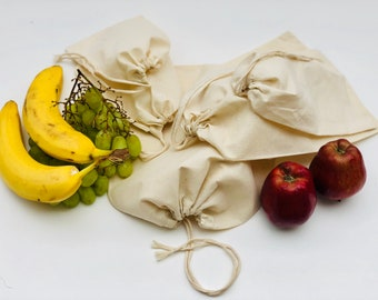 594456bf1c Muslin Bags - 100% Organic Cotton Single Drawstring Premium Quality Eco  Friendly Reusable Natural Muslin Bags. Select Size and Quantity
