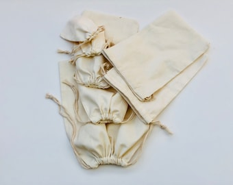 7c5984e0a9 12 x 16 Cotton Muslin Bags - 100% Organic Cotton Double Drawstring Bags, Premium  Quality Eco Friendly Reusable Natural Bags. - Qty 250
