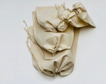 92bd0f7cb6 2 x 3 Inches Cotton Muslin Bags - 100% Organic Cotton Single Drawstring  Premium Quality Eco Friendly Reusable Natural Muslin Bags