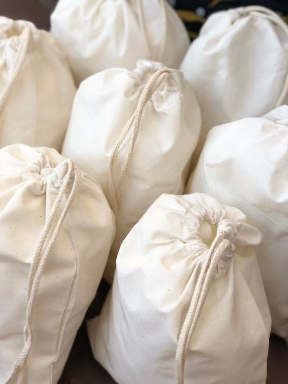 Wholesale Prices 6 x 8 Inches Organic Cotton Muslin Bags Single Drawstrings