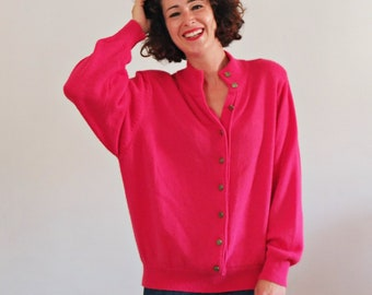 Hot Pink Sweater Etsy
