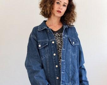 30d9437214 Vintage 90s Oversized denim jacket in blue