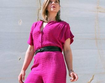 56208535e84 Vintage 80s pink jumpsuit