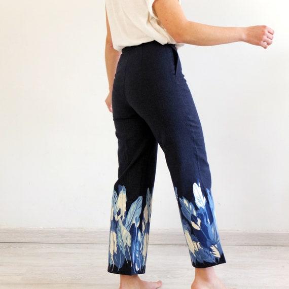 Vintage high waist capri jeans, Vintage 90s printe