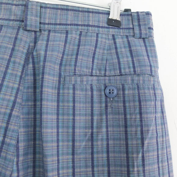 Vintage 80s high waist plaid trousers, Vintage bl… - image 10