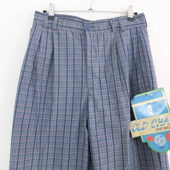 Vintage 80s high waist plaid trousers, Vintage bl… - image 8