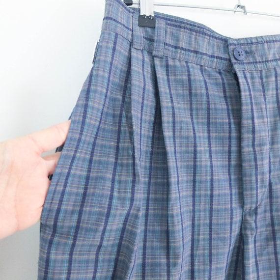 Vintage 80s high waist plaid trousers, Vintage bl… - image 9
