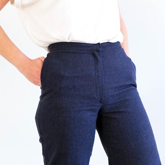 Vintage 90s printed denim capri pants, Size small… - image 8