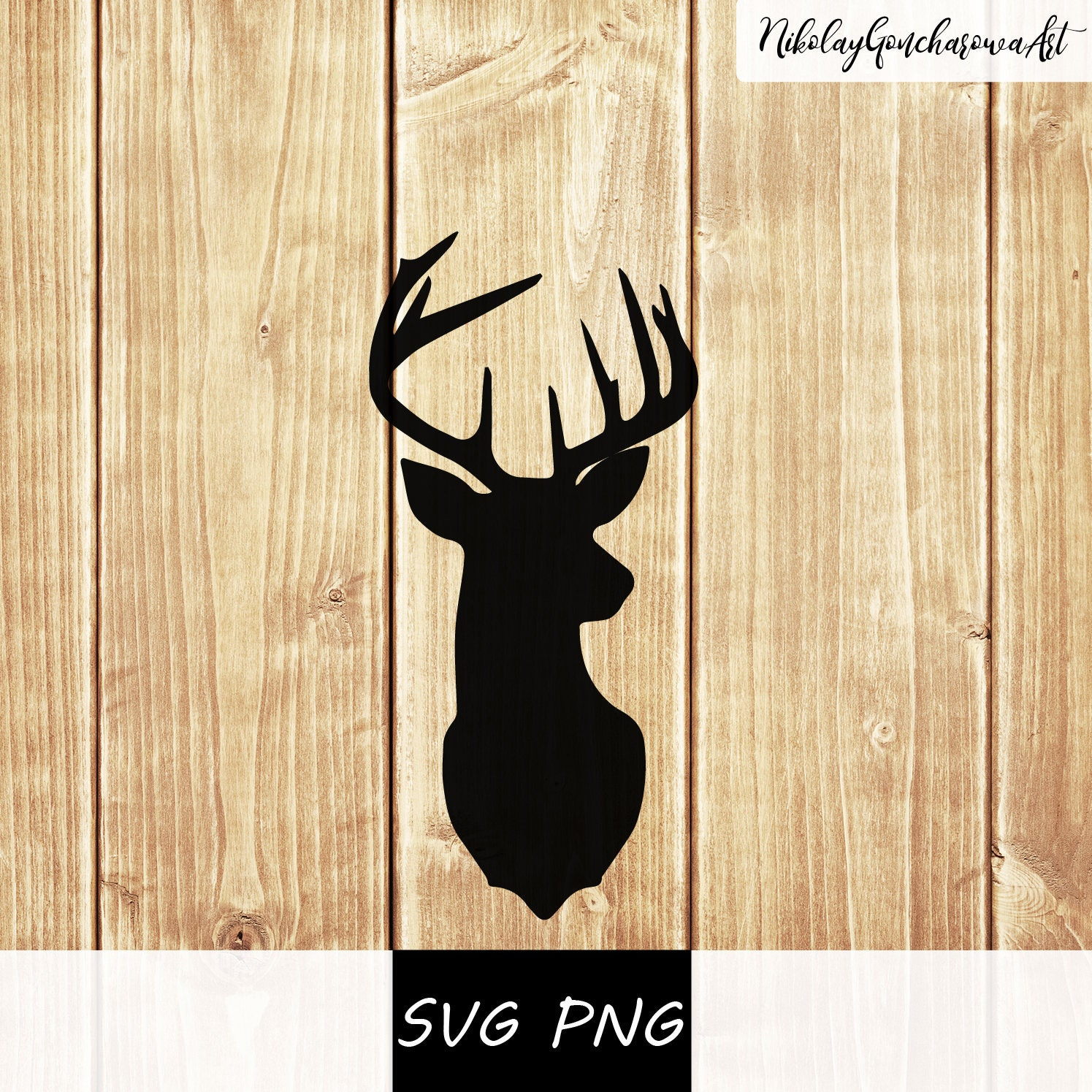 Digital Dowload SVG PNG Deer Head svg png Cut File for | Etsy