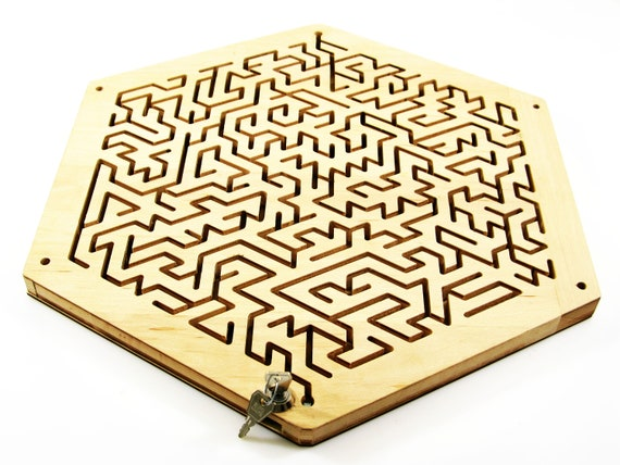 Key Maze For Escape Rooms Maze Wooden Maze Wood Labyrinth