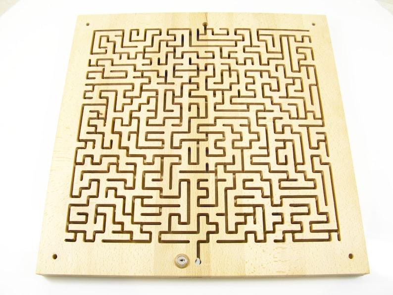 Key Maze Puzzle Escape Room props Wooden Maze Wood Labyrinth Wood Maze  Wooden puzzle Escape room Square labyrinth Key Maze for Escape Rooms