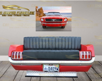 1965 Classic Mustang Rear End SOFA - Car Shaped Furniture - Garage-Man Cave-Home-Office-Auto Body Shop-Mechanic Shop-Restaurant