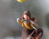 Needle felt doll customized, 3d wool portrait