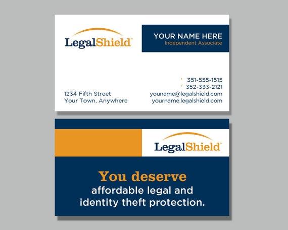 Rechtliche Schild Visitenkarte Design 1