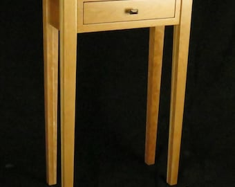 Solid natural cherry end table