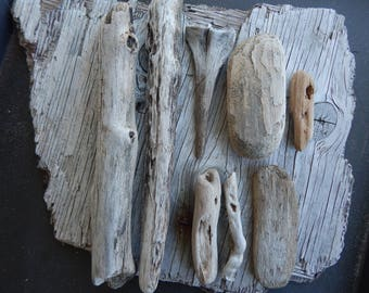 Drift Wood Collection Hand Collected from Pacific Ocean's Sandy Beaches for Handmade Projects
